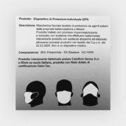 mascherina bianca e nera lavabile descrizione