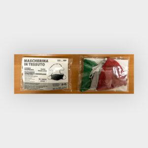 3 mascherine colori bandiera italia